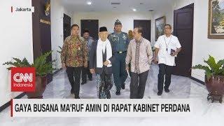 Gaya Busana Ma'ruf Amin di Rapat Kabinet Perdana