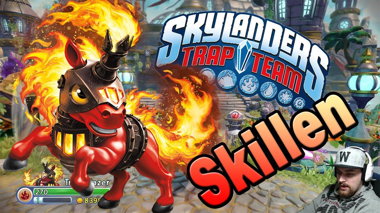 skylanders trap team trail blazer skillen auf pferde