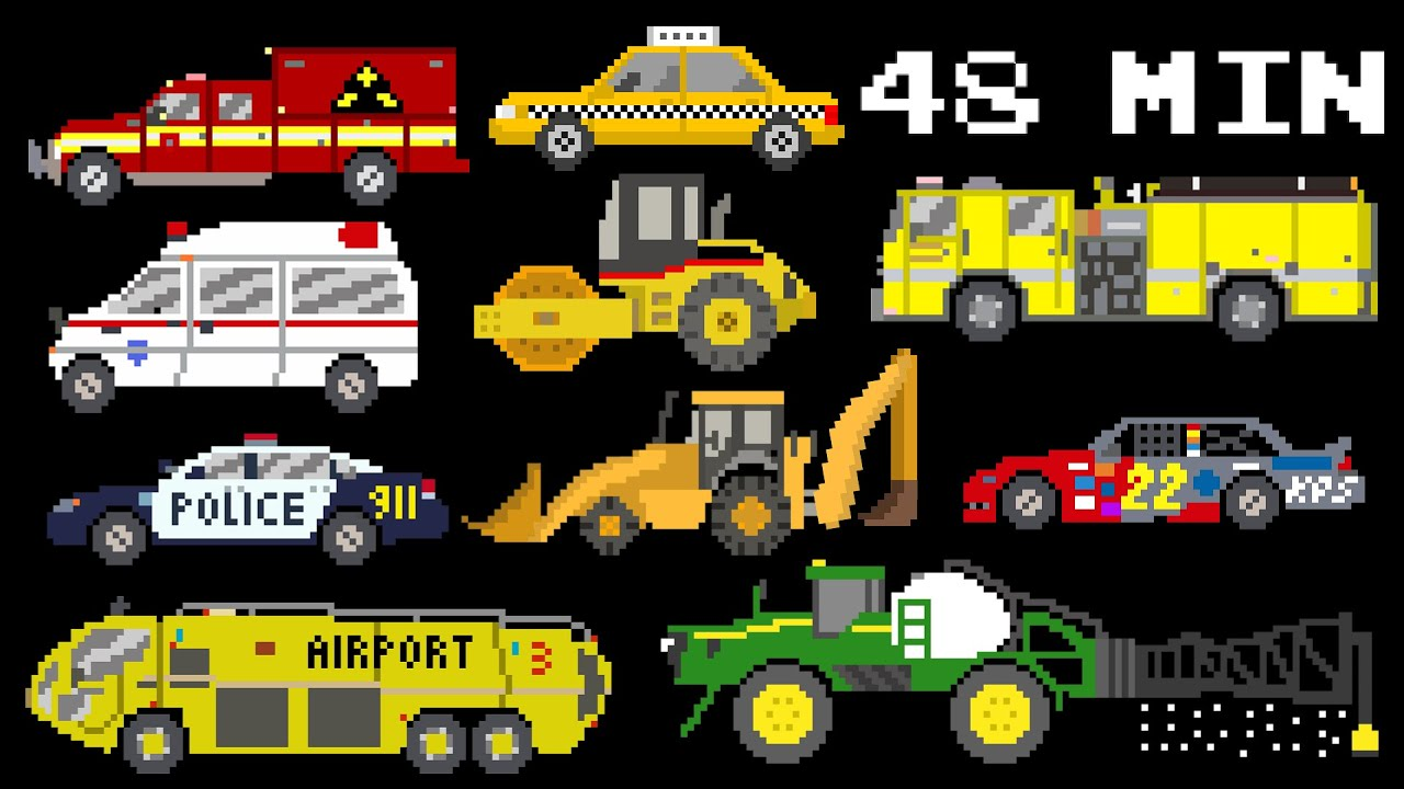 48 Minutes of Vehicles - Collection of Street, Emergency Vehicles ...
