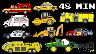 48 Minutes of Vehicles - Collection of Street, Emergency Vehicles & More - The Kids