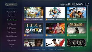 |UNLIMITED GAMES |Gloud games|100%working app |ps3 and ps4 games are availabel