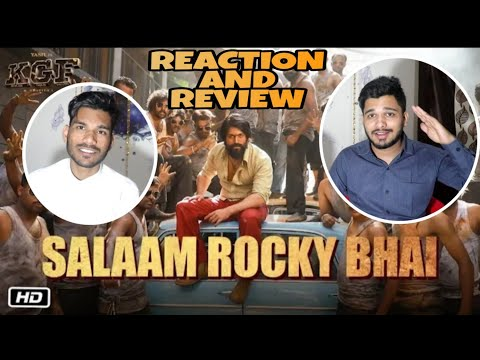 SALAAM ROCKY BHAI | KGF Chapter 1 | Yash, Srinidhi Shetty | M Bros Reaction Review | M Bros India