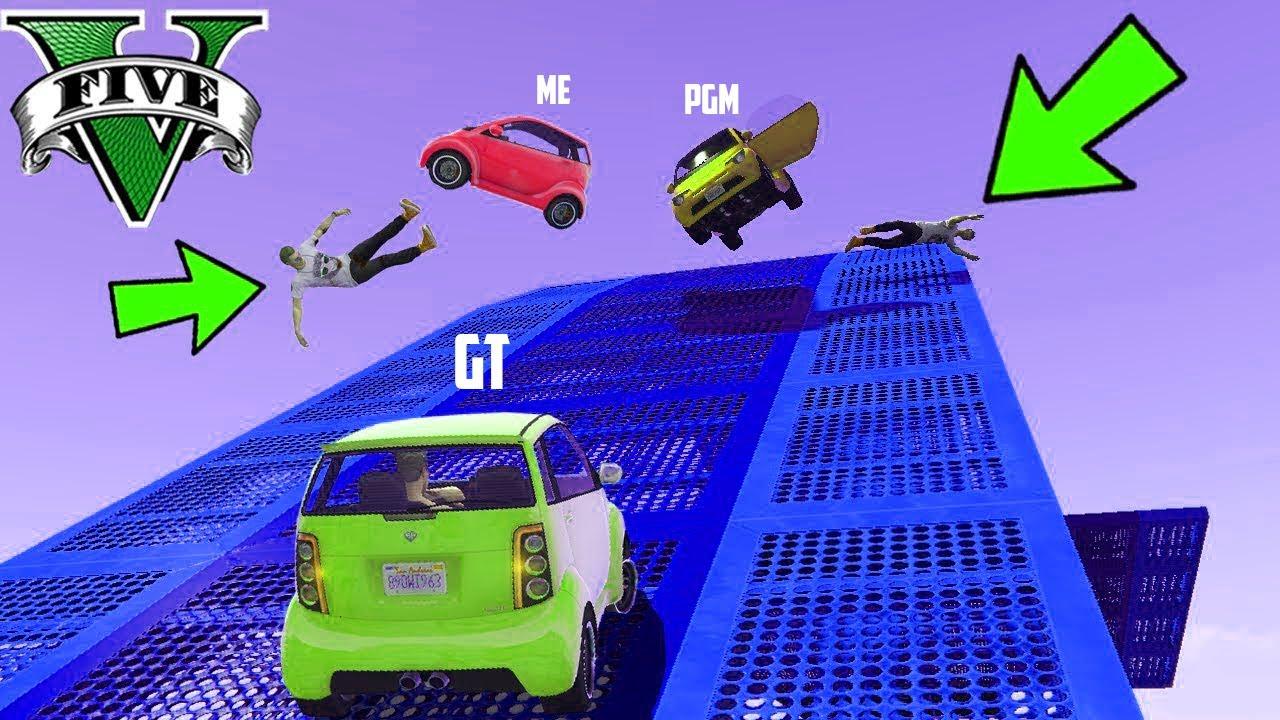 GTA 5 : Funniest Difficult NANO Car Stunt Race with @GAME THERAPIST   GTA V online   RANDOMIZED
