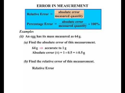 4280 - Error in Measurement - YouTube