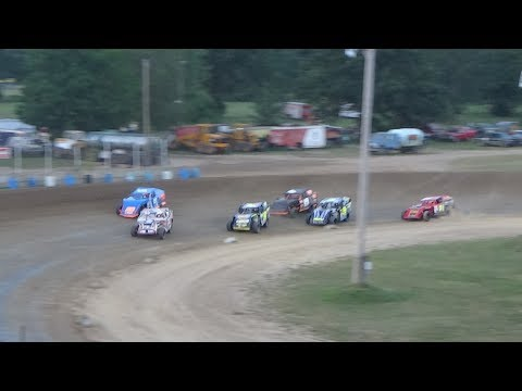 I.M.C.A. Heat Race #3 at Crystal Motor Speedway, Michigan on 07-22-2017.