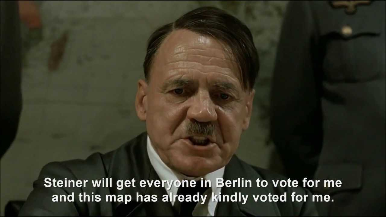 Hitler plans to be to be inducted into the Unterganger Hall of Fame