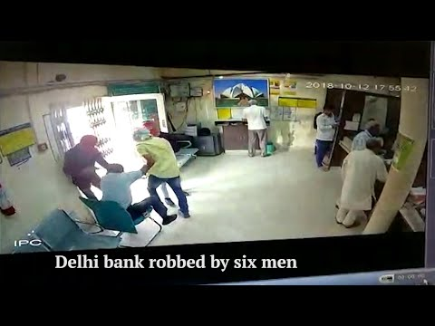 Delhi bank robbed by six men, cashier shot dead