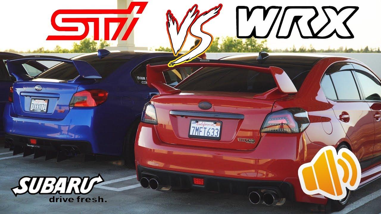 Subaru Wrx Vs Sti >> Wrx Vs Sti Exhaust Comparison Elh Vs Uel 4k