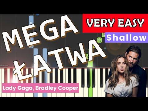 🎹 Shallow (Lady Gaga, Bradley Cooper) - Piano Tutorial (MEGA ŁATWA wersja) (VERY EASY) 🎹