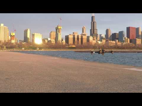 Chicago Lakefront Drone Flight