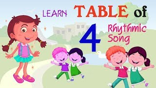 4 multiplication song table Yes Yes | Multiply by 4 - Math for Kids Teaching Video for Preschoolers