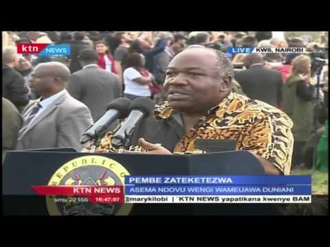 Gabon President Ali Bongo reiterates and empathizes on Uhuru statement against poachers in Kenya