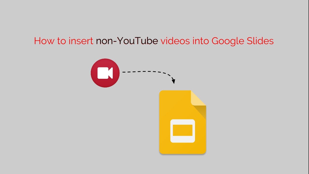 how to insert non youtube videos into google slides youtube