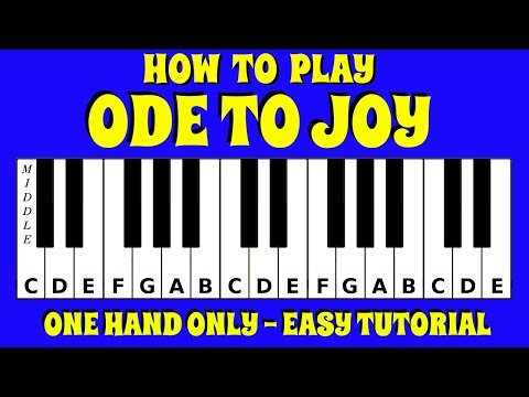 How To Play Ode To Joy on the Piano / Keyboard | Easy Tutorial | No