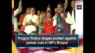 Pragya Thakur stages protest against power cuts in MP's Bhopal