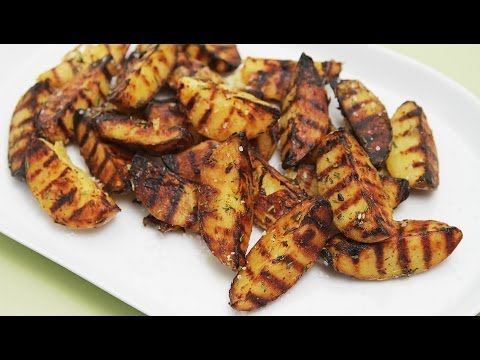 Grilled Potatoes With Rosemary, Garlic and Coarse Sea Salt | HuffPost Life