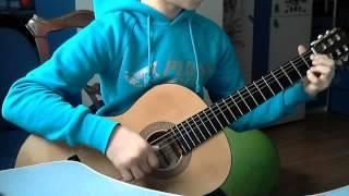 Видеоурок игры на гитаре.Лунная соната Бетховена.