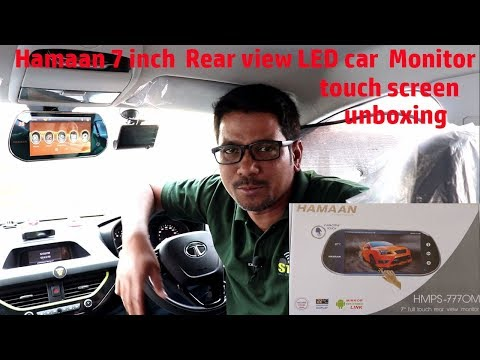 Hindi || Hamaan 7-inch Rear view LED car Monitor touch screen unboxing