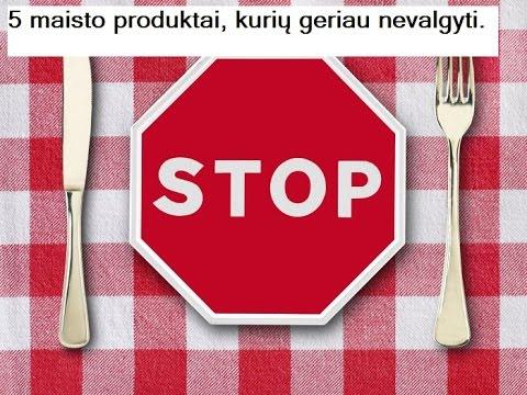 5 maisto produktai, kurių geriau nevalgyti.