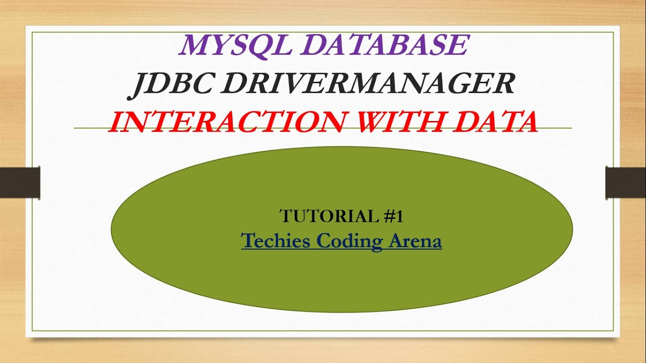 JAVA JDBC(Java database connectivity) TUTORIALS