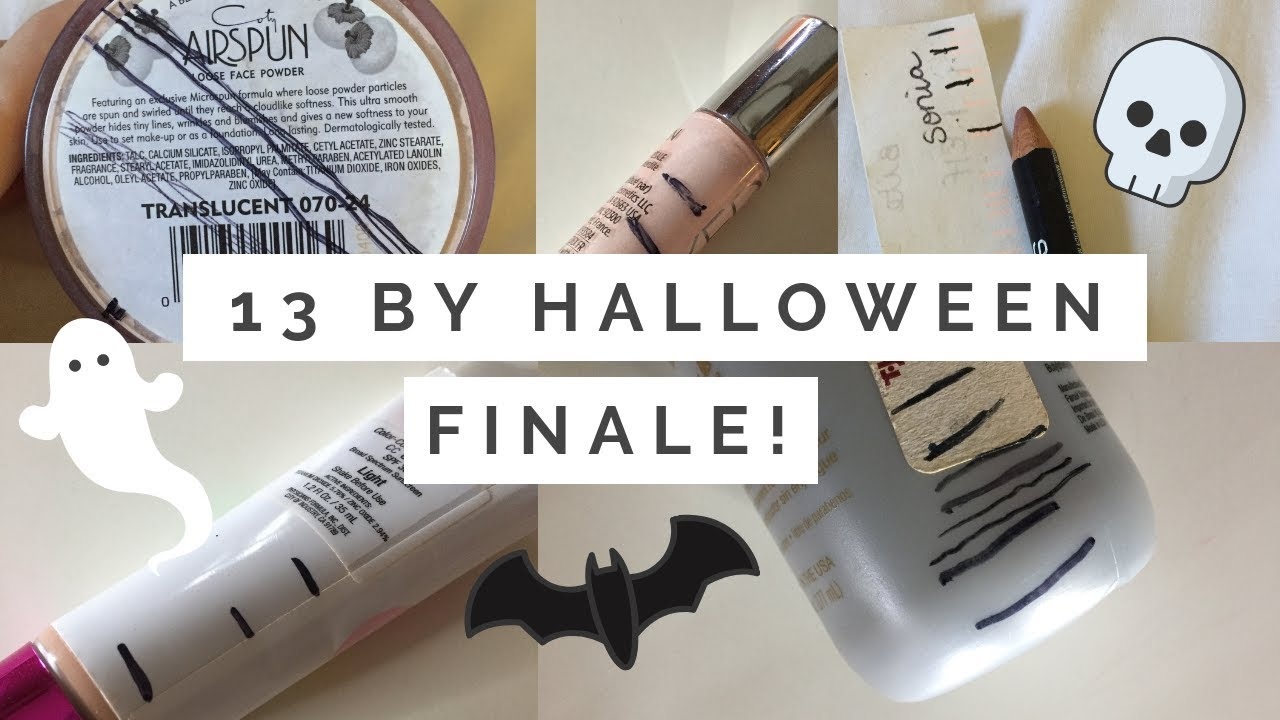 13 by Halloween Project Pan// Finale!