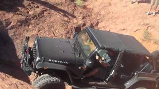 Steep Wall Climb Jeep Wrangler, Jeep JK, Jeep Rubicon, Rock Crawling, Utah