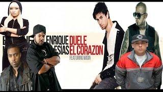 Remix Duele El Corazón - Enrique Iglesias MashUp ft. Wisin & Nas & Nicki Minaj & Ice cube ..