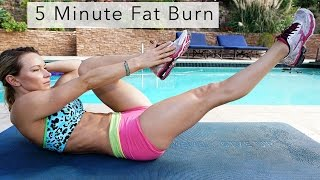 5 Minute Fat Burning Workout #76