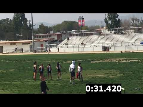 Girls F/S 400m-Cleveland vs. El Camino Real Dual Meet 4/5/18 (Res for Cavs in Desc)