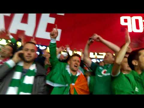 Come On Ye Boys in Green   Ireland Fans sing after beating Wales 9 Oct 2017