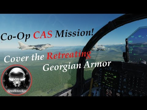 Cover the Georgian Retreat! | DCS World Multiplayer Co-Op Mission | F/A-18C's | AV-8B's & F-15C's