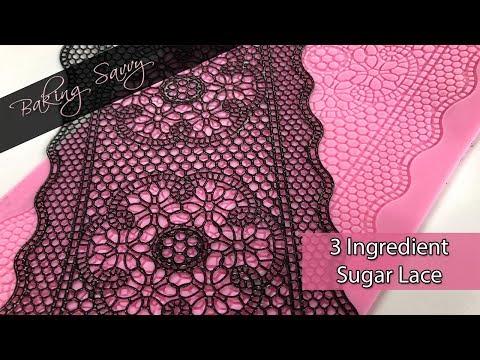 3 Ingredient Homemade Sugar Lace Recipe | Baking Savvy