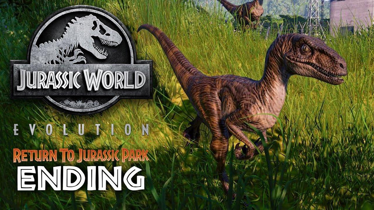 Jurassic World Evolution - REGRESO A JURASSIC PARK ENDING Gameplay Guía Parte 8 + vídeo