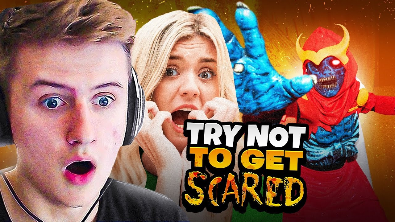 100 Thieves React to Halloween Horror Nights Scary Maze ft. BrookeAB, Symfuhny & More