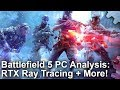 [4K] Battlefield 5 PC - RTX Ray Tracing Analysis and Xbox One X Graphics Comparison