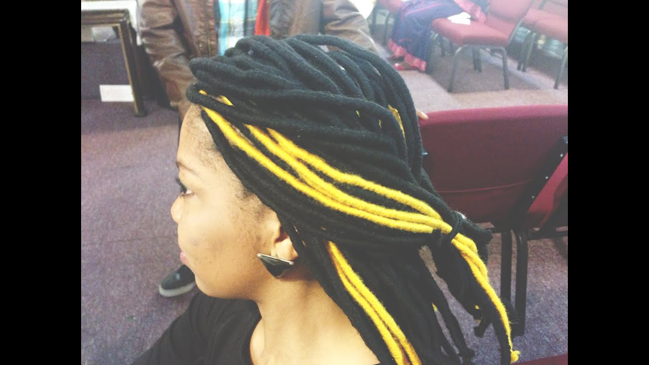 How To Do Yarn Dread Locs Youtube