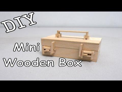 DIY Mini Wooden Box #16 (Popsicle Stick)
