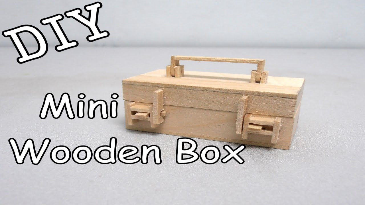 Diy Mini Wooden Box 16 Popsicle Stick Youtube