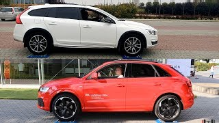 Volvo V60 Cross Country AWD vs Audi Q3 Quattro - 4x4 test on rollers
