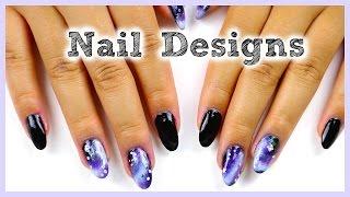 Diy Easy Nail Designs (vintage Roses, Galaxy, & More!)
