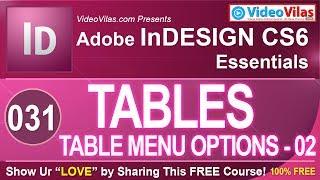 Adobe Indesign Cs6 Tutorials (telugu) - 31 - Tables & Table Menu Options | Best Dtp Telugu Tutorials