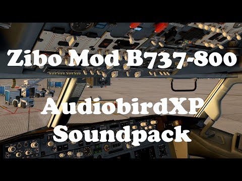 X Plane 11 - Brand new AudiobirdXP soundpack - Zibo Mod B737-800