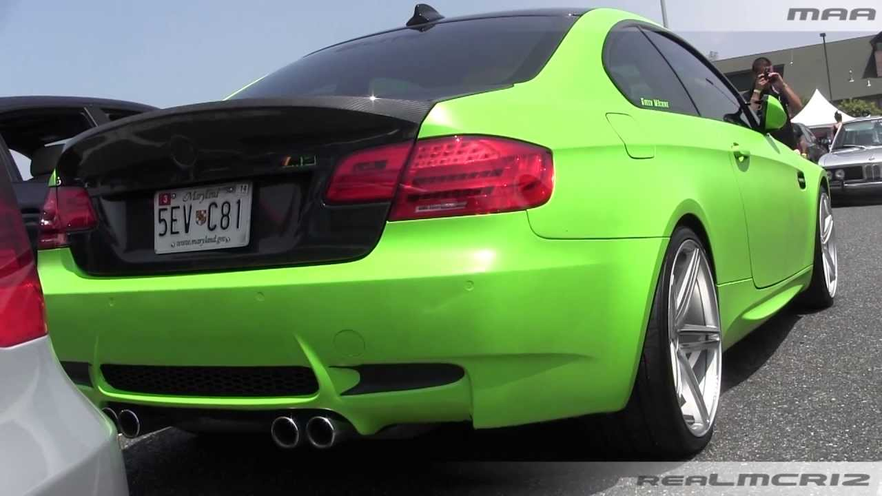 Bmw M3 Lime Green Wrap Youtube