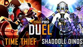 YGOPro Duel - TIME THIEF vs SHADDOLL DINOS | Yugioh JANUARY 2019 (New Ban List Test)