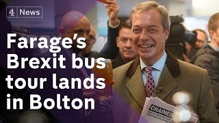 Farage pushes for hard Brexit on tour