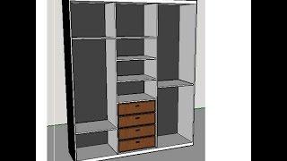 Desenhando móveis no Google SketchUp - Guarda Roupas