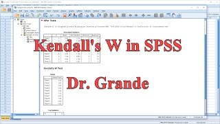 Kendall's Coefficient of Concordance (Kendall's W) in SPSS