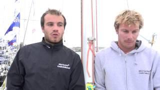 Corentin et Quentin sur le Tour de Bretagne à la voile