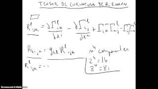 40 Teoría de la Relatividad - Tensor de Curvatura de Riemann, Tensor de Ricci  y Escalar de Ricci