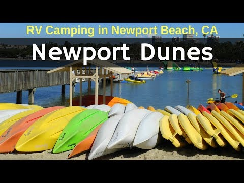 Camping at Newport Dunes in Orange County (Bonus Drone Footage)